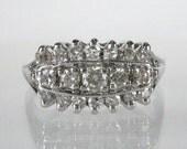 White Gold Diamond Wedding Ring - 0.48 Carat Diamond Total Weight - 14K - Vintage