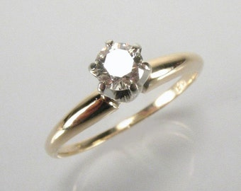 Classic Diamond Solitaire Engagement Ring - 0.18 Carats