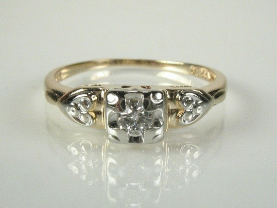 Vintage Diamond Engagement Ring - 0.08 Carat