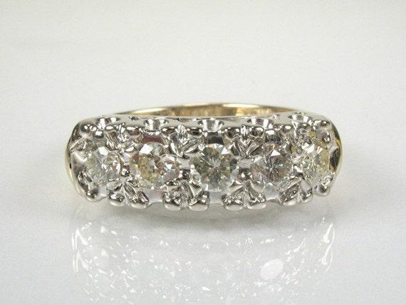 Vintage Diamond Wedding Ring - 0.50 Carat Total Weight