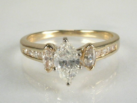 Marquise Diamond Engagement Ring - 0.55 Carat Total Weight