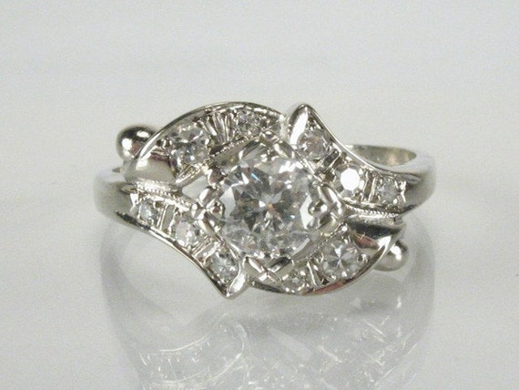Estate Ring Diamond Engagement Ring- 0.54 Carat Total Weight - Appraisal Included
