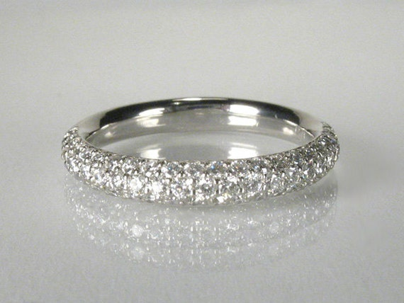 Platinum Diamond Wedding Ring - Estate 0.51 Carats - Appraisal Included