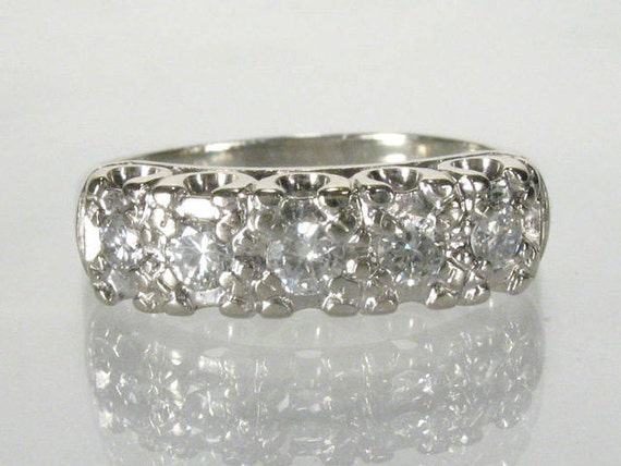 Reserved For Kathy - Vintage Diamond Wedding Ring - 0.27 Carats