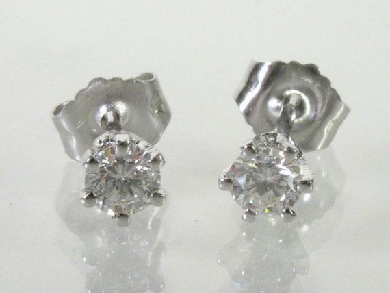 Diamond Ear Studs - 0.23 Carats Total Weight 3.2 mm