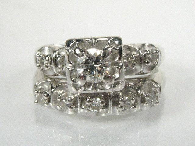 zoom - Vintage Wedding Ring Sets
