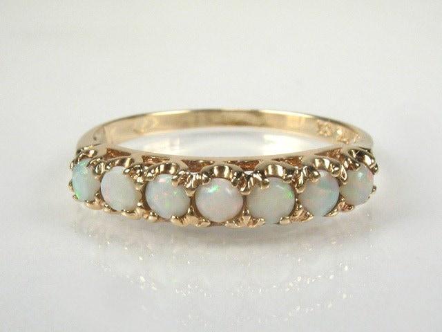 Sweet Estate Opal Wedding Ring 10K Yellow Gold by lonestarestates