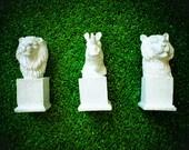 Lion, Rhino, Tiger - Mod Mini Animal Busts - Safari
