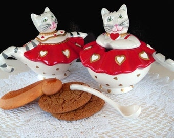 Sugar and Creamer Set * ROYAL CAT BALLERINA * Rossi by Silvestri * Retired Tableware