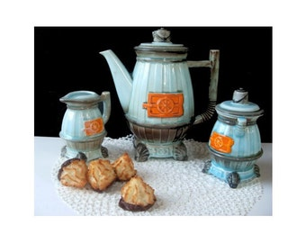 POTBELLY STOVE Teapot With Sugar and Creamer Set - NORCREST Japan