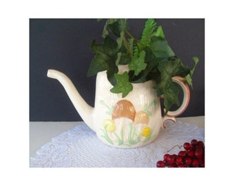 Vase / Planter / Pitcher * WATERING CAN  With Mushroom Design by ARNELS 1970s