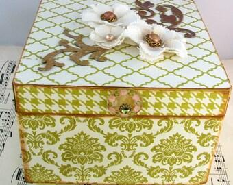 Sale Item Handcrafted Trinket Jewelry Box