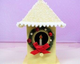 Christmas Mini Yellow Bird House Decoration