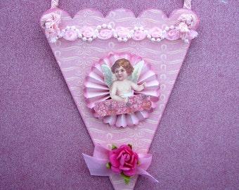 Victorian Cone Cherub  Ornament