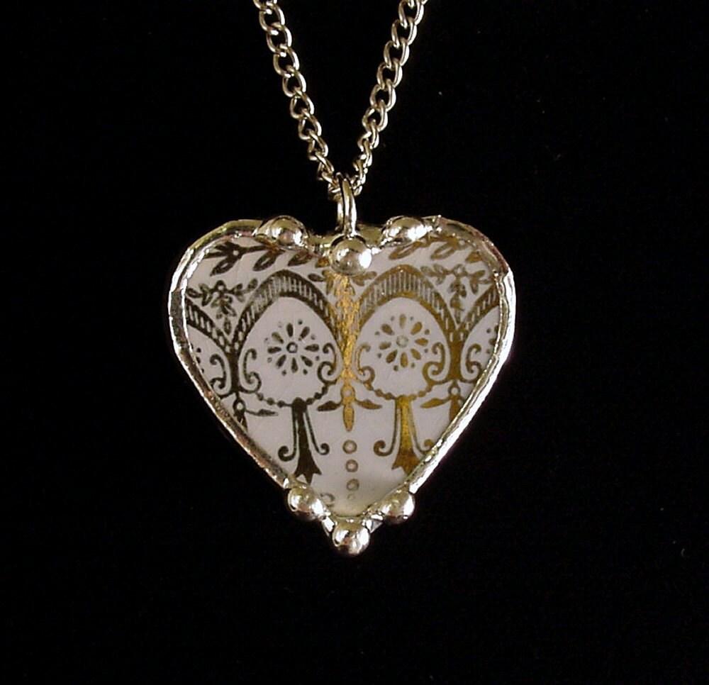 broken china jewelry pendant by dishfunctionldesigns