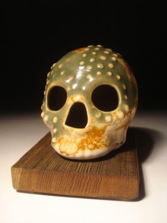 Dino Textures Celadon Green Textured Skull