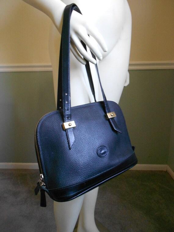 Vintage 1980s Dooney & Bourke All Weather Leather Bag   Reserved for Debb