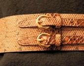 Snakeskin Double-Clasp Belt