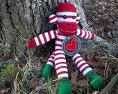 Christmas Sock Monkey