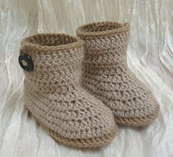 Crochet Baby Booties for 6 to 9 months old/11 cm/4,25 inch/free shipping