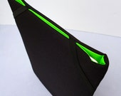 BertieJoseph iPad sleeve black Cordura with apple green ripstop lining