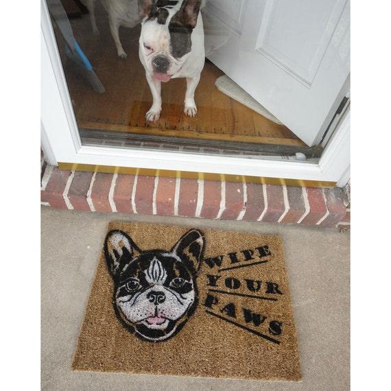 French Bulldog Doormat Personalized