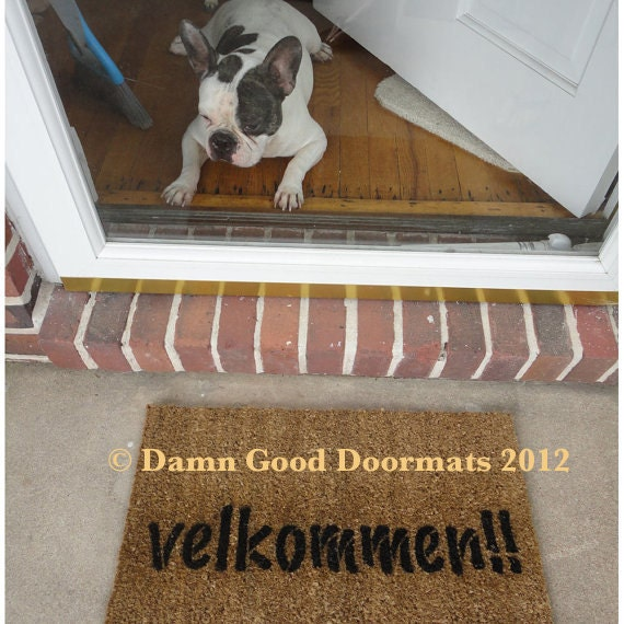 Norway Norwegian Danish Dansk Doormat Velkommen Come In