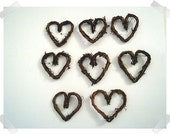 Vine Hearts/Set of 8/Free Shipping