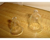 Set/2 Small Fairy Garden Glass Cloches/ Minis/ Craft Supplies*