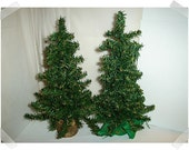 2 Faux Pine Tree Decorations/Large size/FREE SHIPPING