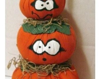 Halloween Pumpkins/ Stackable /Halloween Decor/ Handmade*