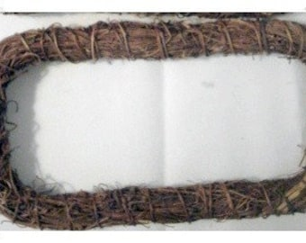 Rectangle Natural Vine Wreath/Craft Supplies*Last One**