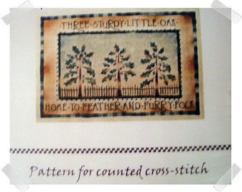 Counted Thread PATTERN /Oak Trees/Craft Supplies*