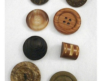Buttons/Lot of 8- Assorted/ Craft Supplies/(#022)*