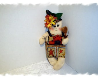 Halloween Witch Doll Ornament/Handmade**