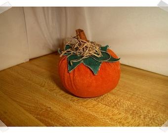 Suede Pumpkin/Small size/ Holiday Decor/ Handmade**