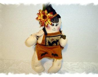 Halloween Witch Doll Ornament/Handmade**
