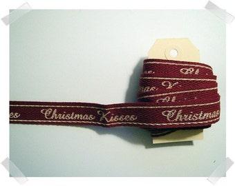 Cotton Twill Ribbon/2 Yards/Holiday Ribbon/ Craft Supplies*