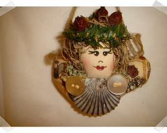 Lady Shell Ornament/Home Decor/ Handmade**