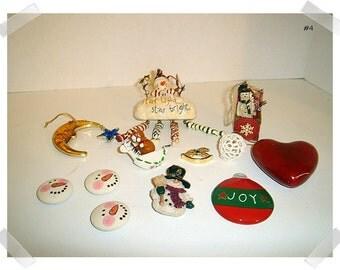 Christmas Craft /Assorted Lot (#12)/ Decorations /Craft Supplies*