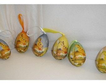 Easter Eggs Decoration/Set of 6/  Craft Supplies*/Set #2E