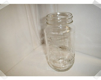 Vintage Glass Mason Jar/**No Lid OR with Lid/ Kitchen Wares*