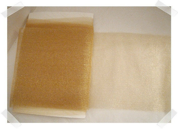 Gold Organza Ribbon/4 & half yards/FREE SHIPPING