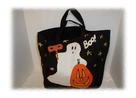 Halloween Canvas Trick or Treat Bag/Handmade*