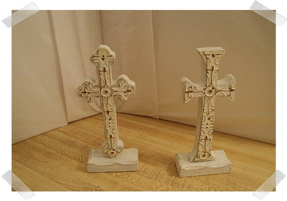 Set/2 Wooden Crosses/FREE SHIPPING
