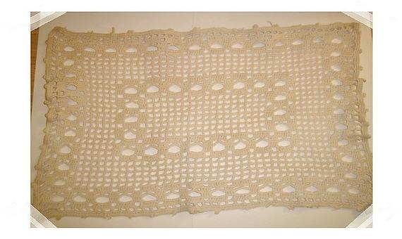 Light Beige Vintage Cotton Doily/FREE SHIPPING
