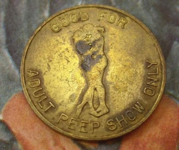 1970's Adult Peep Show Token...Ellwest Stereo Theatres and Jolar Cinemas...NYC.