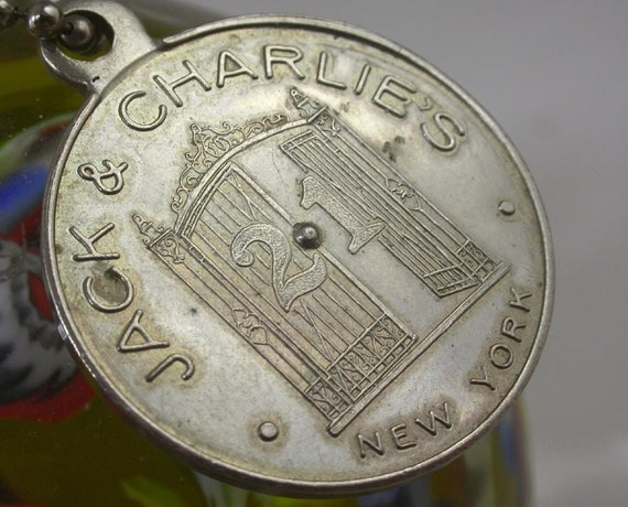 1950s Jack and Charlie's 21 Club, New York City.  A promotional advertising spinner token.