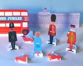 Diamond Jubilee paper figures, transport and Buckingham Palace printables PDF templates play set