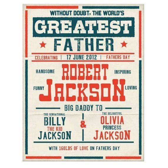 Fathers day Custom vintage boxing poster printable PDF